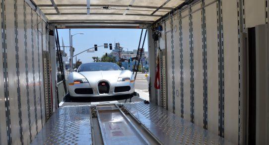Bugatti-Silver-Enclosed-Car-Transporter-Lift-Gate